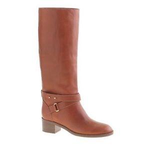 NWOB J.Crew Tan Parker Vachetta Leather Boots